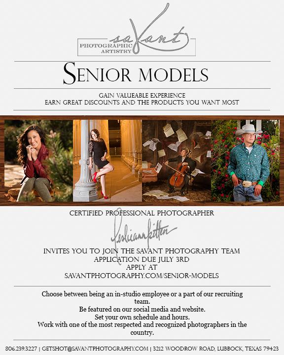 Senior Model Flyer